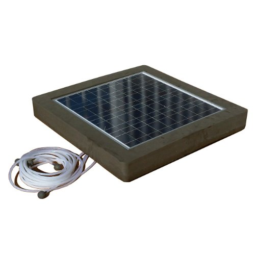 Natural current savior aerator pool pond solar powered for Solar pond filter