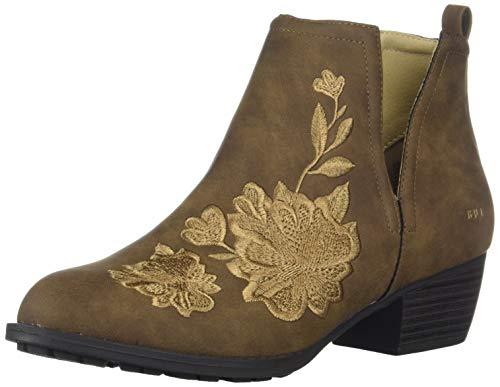 by Tonal Boot Fashion JBU Jambu Embroidery Women's Parker Brown Zq18Wdpw