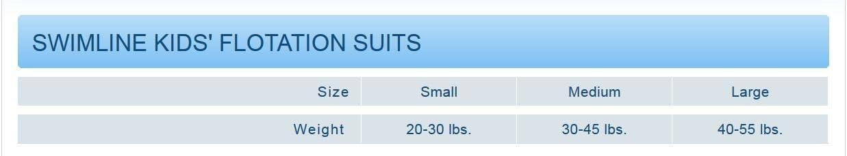 Boys Swimline Lycra Floating Swim Trainer Suit