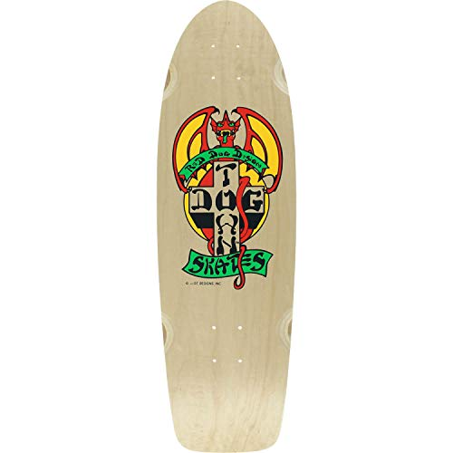 吐き出す反逆者優しさDogtownスケートボードogクラシックレッド犬ナチュラル/レッド/イエローOld Schoolスケートボードデッキ – 9