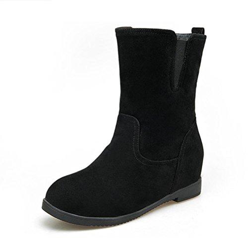 Ei&iLI Bottes femme Automne / Hiver confort PU robe augmenté Noir / Marron / Rouge / Camel Walking , black , 34