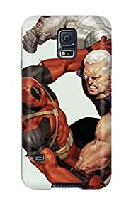 Galaxy S5 Deadpool Vs Cable Print High Quality Tpu Gel Frame Case Cover