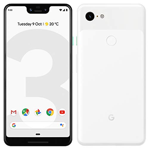 Google Pixel 3 XL (2018) G013C 128GB – 6.3″ inch – Android 9 Pie – (GSM Only, No CDMA) Factory Unlocked 4G/LTE Smartphone – International Version (Clearly White)