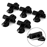 Kocome 5pcs Aquarium Fish Tank Divider Suction Cup Black Plastic Sheet Holders