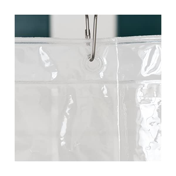 LiBa PEVA Lightweight Shower Curtain Liner Pack Of 2 Mildew Resistant Non Toxic No Chemical Smell 72 X Clear Plastic