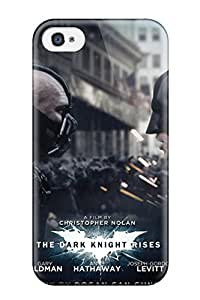 Logan E. Speck's Shop Tpu Case Cover For Iphone 4/4s Strong Protect Case - Bane And Batman In The Dark Knight Rises Design 8216318K95704019