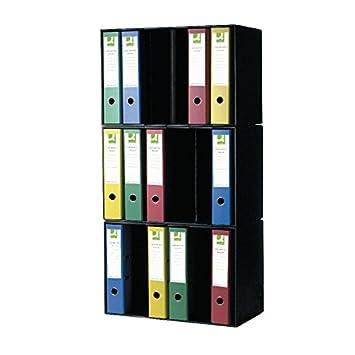 Q-Connect KF01594 - Soporte para archivadores, negro: Amazon.es: Oficina y papelería