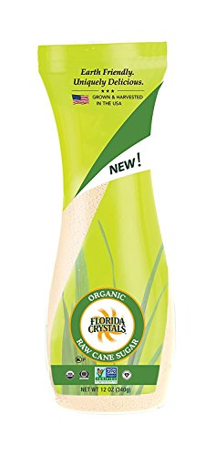 - Florida Crystals Certified Organic Raw Cane Sugar, Flip-top Canister, 12 oz
