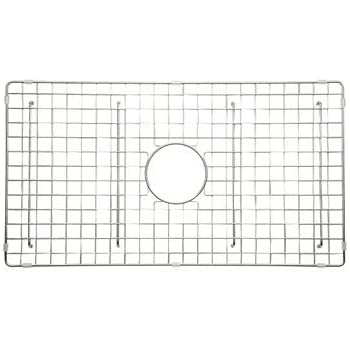 Rohl WSGUM3018WH Wire Sink Grid For Um3018 Kitchen Sinks With Center Drain  Hole, White Abcite