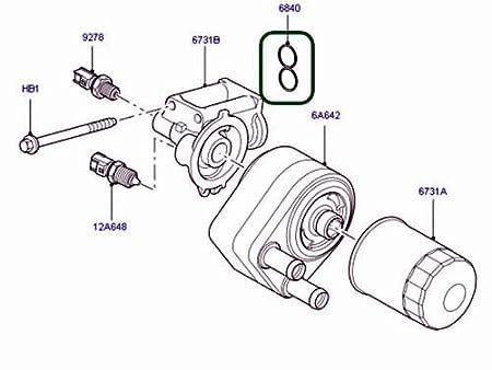 Amazon Com Genuine Land Rover Oil Filter Gasket Range Rover 06 12