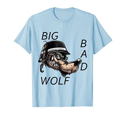 Mens Big Bad Wolf Halloween Costume T-Shirt T Shirt Tee Shirt Large Baby Blue -