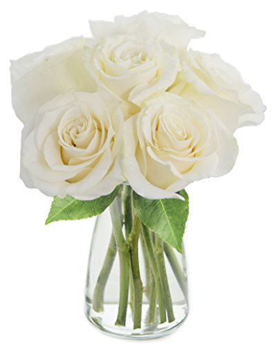 Bouquet of Long Stemmed White Roses (Half Dozen)