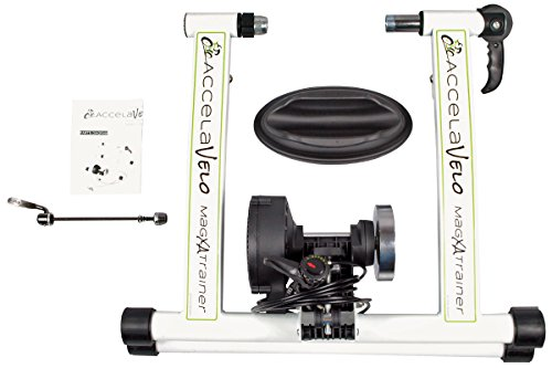 AccelaVelo Mag-XA Indoor Adjustable Magnetic Bike Trainer - 6 Levels Of Resistance - Handlebar Remote Is Included - Complete 2 Year Warranty by AccelaVelo (Image #3)
