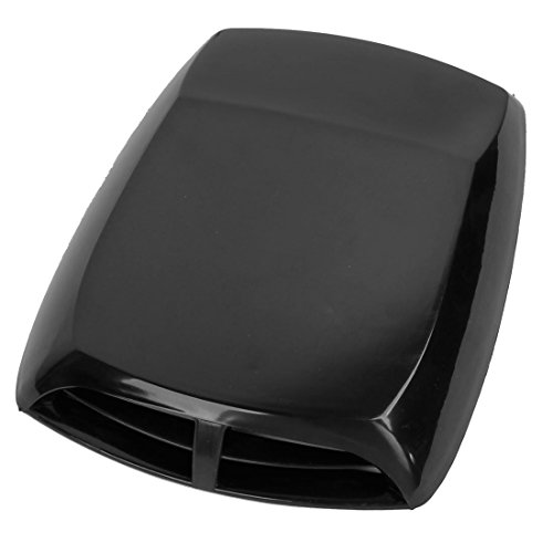 AUTUT Universal Car Hood Vent Intake Scoop Cover Black