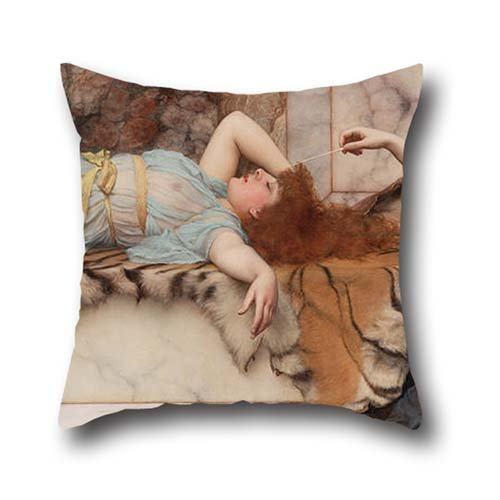 Oil Painting Godward, John William - Mischief And Repose Throw Cushion Covers 16 X 16 Inches / 40 By 40 Cm For Kids,couch,teens,outdoor,play Room,dance Room With Two Sides (Cushions Bolster For Daybeds)