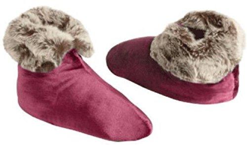 Northpoint Womens Ardor Velvet Boots In Pelle Di Vacchetta Bordeaux