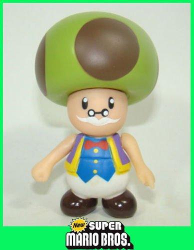 Shalleen 9cm Super Mario Brothers Action Figure Movable Figurine Mushroom TOADSWORTH