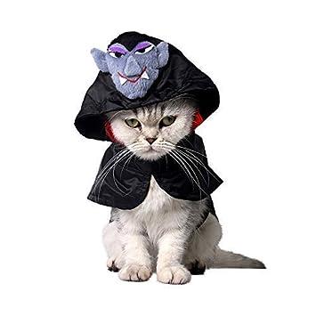 Rodenckuger Vestido De Vampiro Para Mascotas Para Halloween Para - Disfraz-de-gata-para-halloween