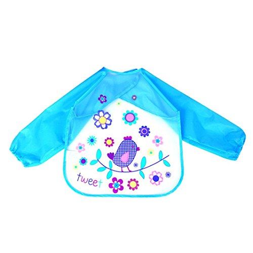 Baby Long Sleeve Art Smock Bib Waterproof Apron (Elephant) (Pink) - 5