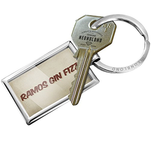Keychain Ramos Gin Fizz Cocktail, Vintage style - NEONBLOND