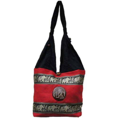 diseño elefante Marchas de bordado nbsp; hippie Thai bolsa de qzOwP7P
