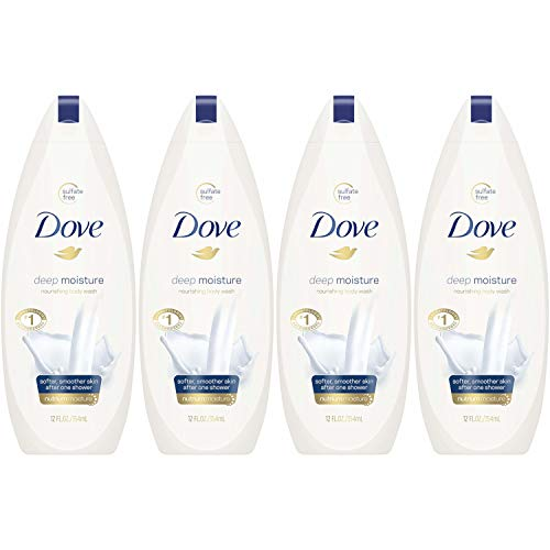 Dove Body Wash, Deep Moisture, 12 oz, Pack of 4