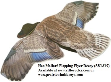 Sillosocks Hen Mallard Flapping Flyer Decoy (SS1319) Decoys