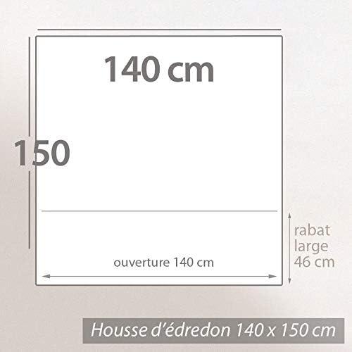 Linnea Housse d/édredon uni 140x150 cm 100/% Coton Alto Vert Fleur damandier