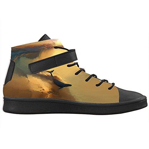 Lyra Colletto Nero Design CHEESE Personalizzato Alla Alte Caviglia Sneakers Toe Bella Traspirante Donna E con Balena Round Scarpe zwqxF1EqH