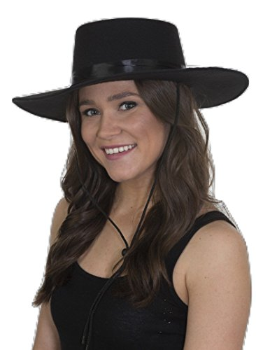 Jacobson Hat Company Unisex-Adult's Deluxe Felt Spanish Hat, Black, Adjustable -