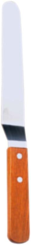 manche en bois 15 cm environ 11*3cm la cr/ème Acier inoxydable Spatule /à /étaler le beurre acier inoxydable