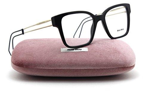 Miu Miu SMU 02PVA Women Eyeglasses Asian Fit 1AB1O1, - Asian Eyeglasses