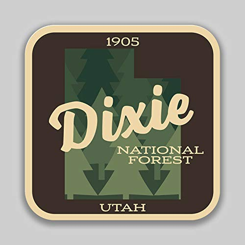 JB Print Dixie National Forest Explore Wanderlust Camping Hiking Vinyl Decal Sticker Car Waterproof Car Decal Bumper Sticker ()