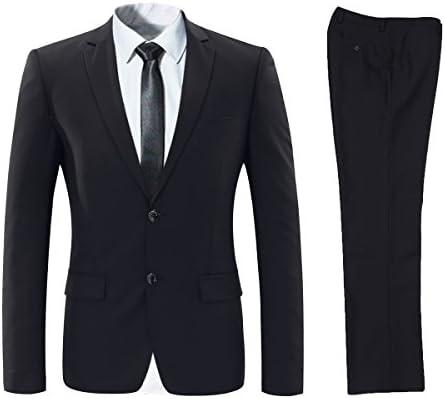 ビジネススーツ 上下セットスーツ 2つボダン 光沢あり立体裁断 ウォッシャブル 防シワ メンズ ブラック XS