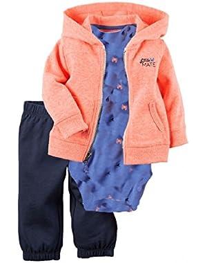 Carter's Baby Boys 3-Piece Short-Sleeve Safari Bodysuit, Med Blue