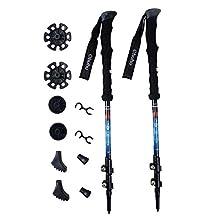 Ohuhu 80% Carbon Fiber Hiking Pole Lightweight Adjustable Crutches,1 Pair