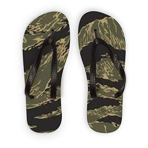 Vintage Vietnam Era Tiger - Vietnam Era Military Style Tiger Stripe Adult Flip Flops