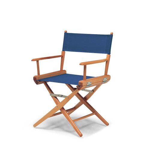 - Telescope Casual World Famous Dining Height Director Chair, Blue with Varnish Frame (60323C01)