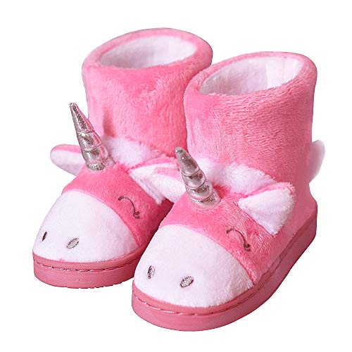 Bootie Slippers For Girls - Girl's Comfy Soft Cute Unicorn Upper