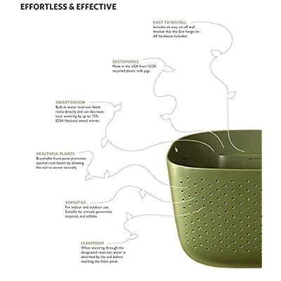 WallyGro Eco Vertical Garden Wall Planter 4 Pack Espresso : Garden & Outdoor