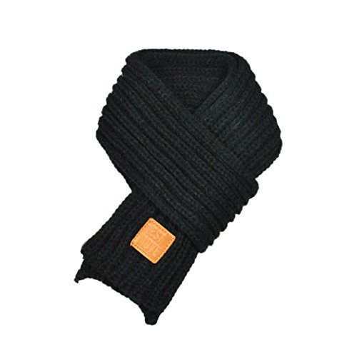Rumas® Fashion Baby Kid Boys Girls Lovely Autumn Winter Warm Solid Scarf Knitted Scarves (Black)