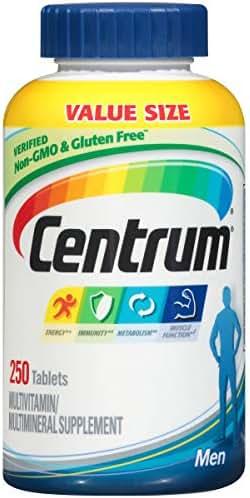 Centrum Men (250 Count) Multivitamin / Multimineral Supplement Tablet, Vitamin D3