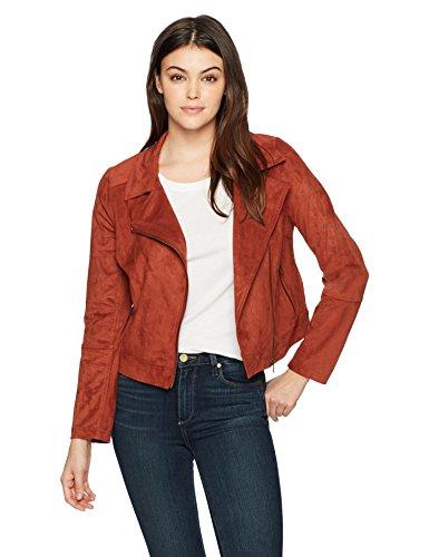 Lyssé Women's Suede Moto Jacket, Henna, L by Lyssé