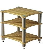 Feet Multifunctional Multi-Layer HiFi Audio Cabinet, Cabinet Audio Rack with Shock-Absorbing Feet, Power Amplifier Shelf Equipment Cabinet (Color : Walnut, Size : 60 * 48 * 62cm(Third Floor))