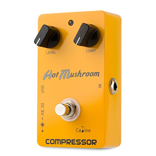 Caline Compressor Pedal Comp Guitar Effects Pedal True Bypass with Aluminum Alloy Housing CP-10 Hot Mushroom, Orange by Caline