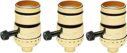 creative hobbies 7070 two circuit turn knob lampholder sockets for  controling two lamp sockets, standard