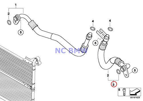 BMW Genuine Engine Oil Cooler Pipe Return Engine Oil Cooler Pipe 535i 535xi 535xi
