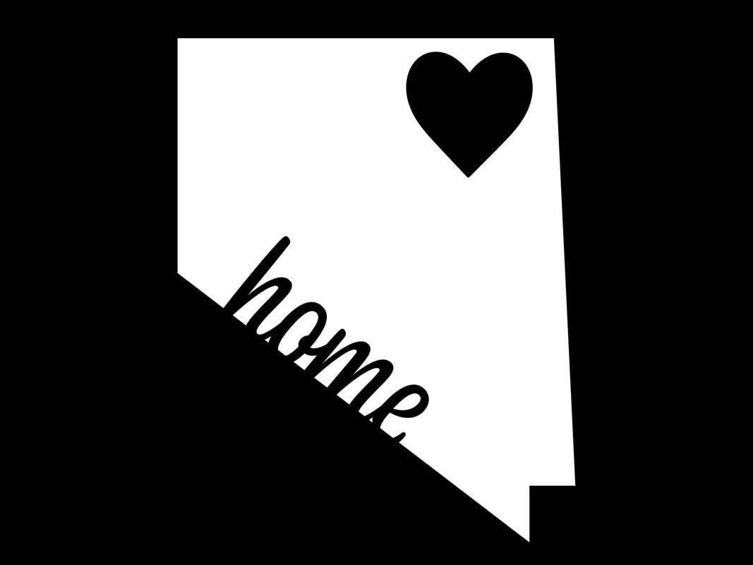 Nevada State is Home NOK Decal Vinyl Sticker  Cars Trucks Vans Walls Laptop White 5.5 x 5.0 in NOK044