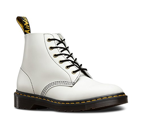 Dr. Martens Men's 101 Arc Smooth 6-Eye Boots, White, 12 M UK, 13 M US