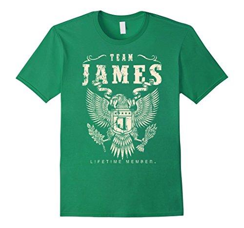 James Team Color (Mens Team James Lifetime Member T-Shirt Medium Kelly Green)